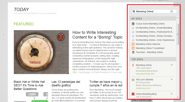 Feedly Buscador