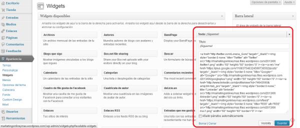 Cómo insertar el código de los botones sociales en WordPress gratis