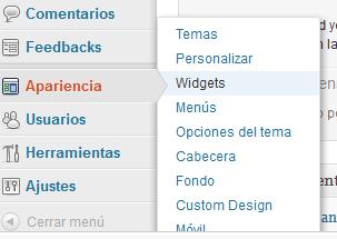 Cómo insertar un widget en WordPress gratis