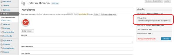 Cómo obtener la URL de los botones sociales en WordPress